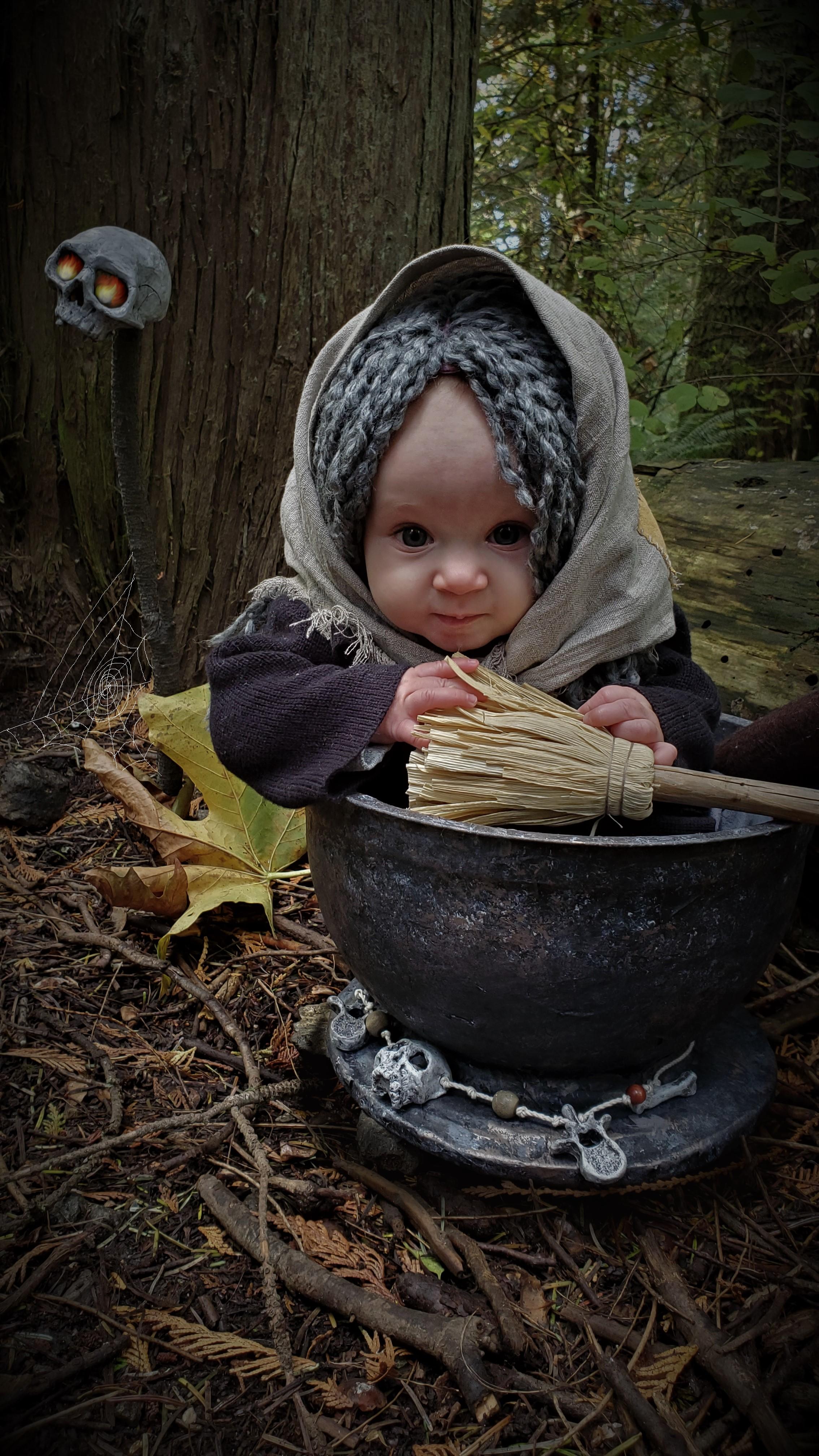 Baby Baba Yaga Photoshoot