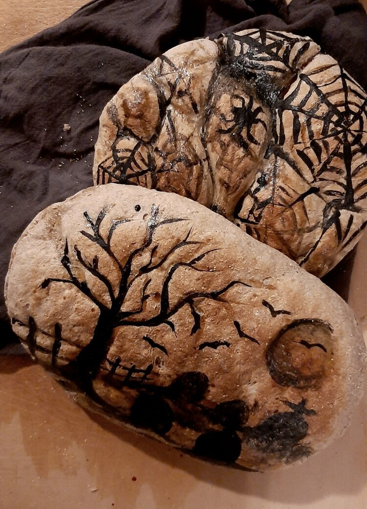 Spooky Painted Bread