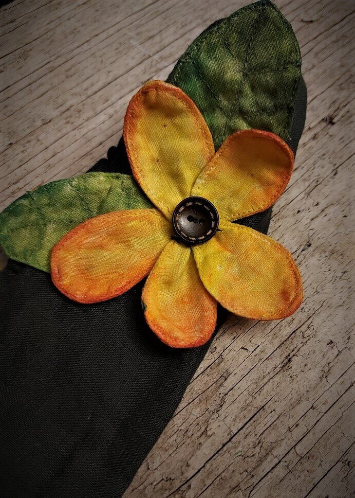 Painted Linen Flowers