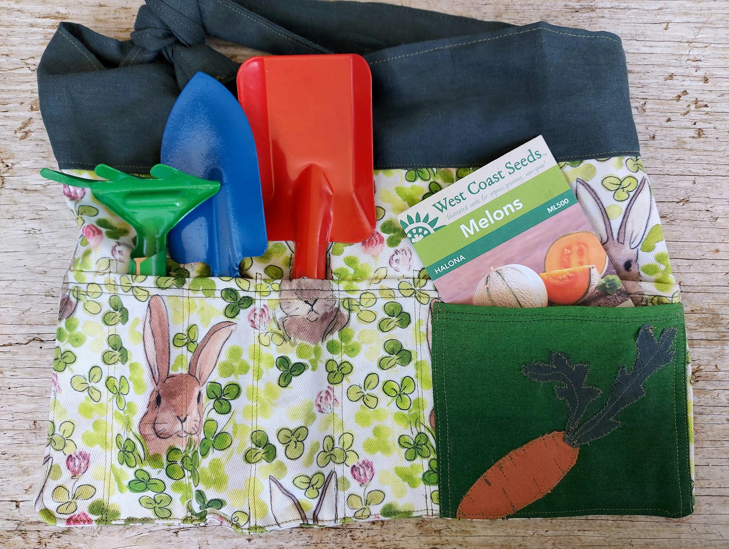 How to make a kids gardening apron for your own kids gardening kit