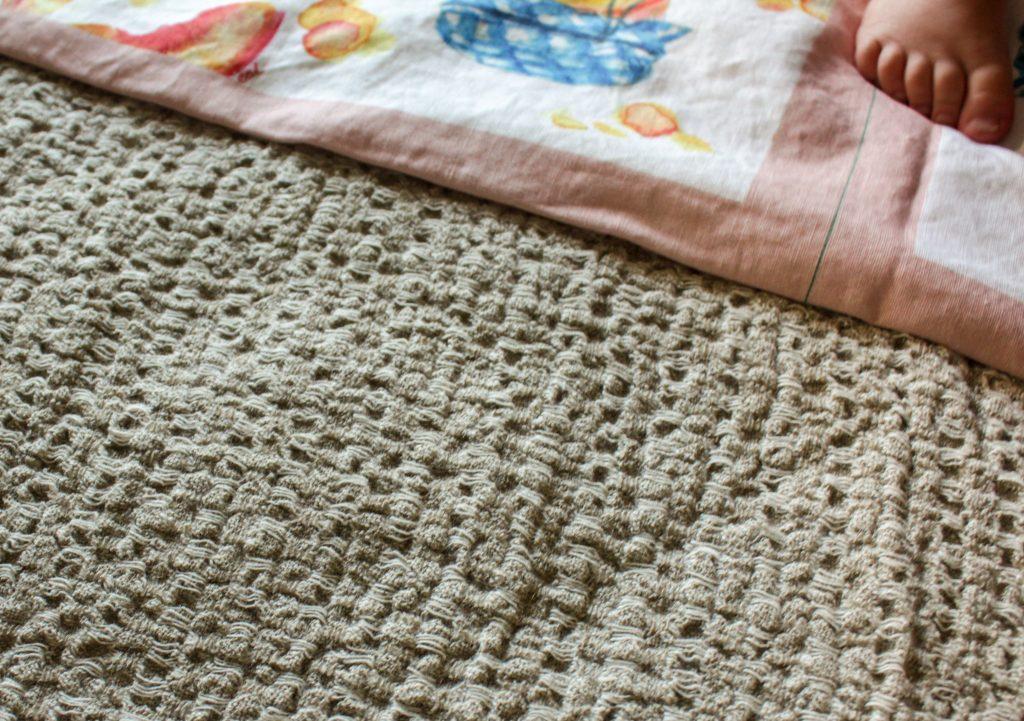 linen waffle fabric and spoonflower tea towel fabric