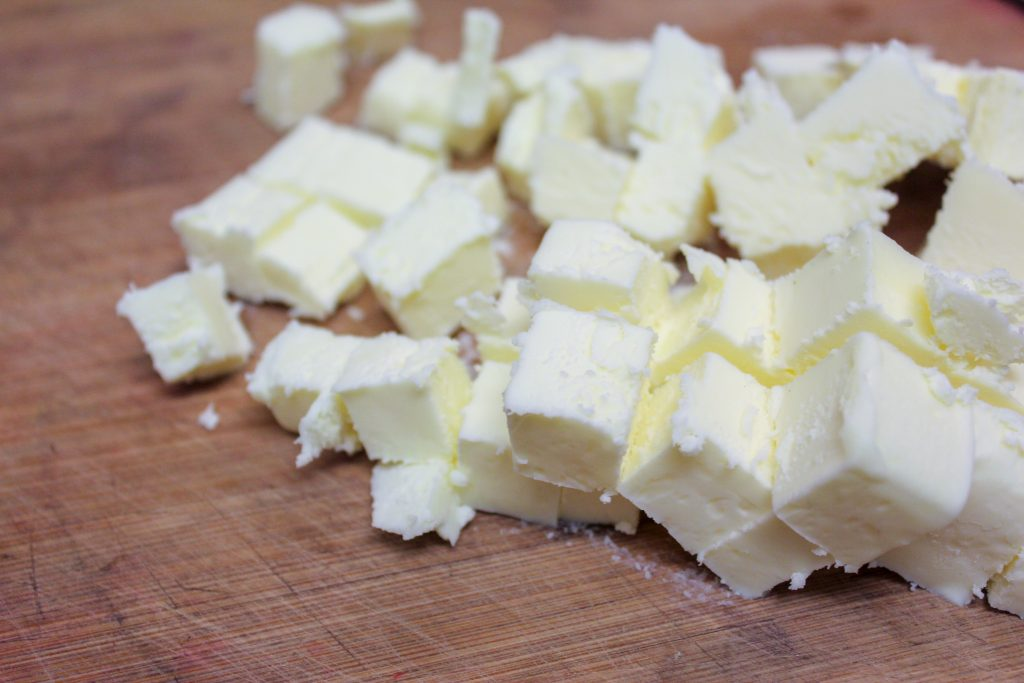 cubed up butter